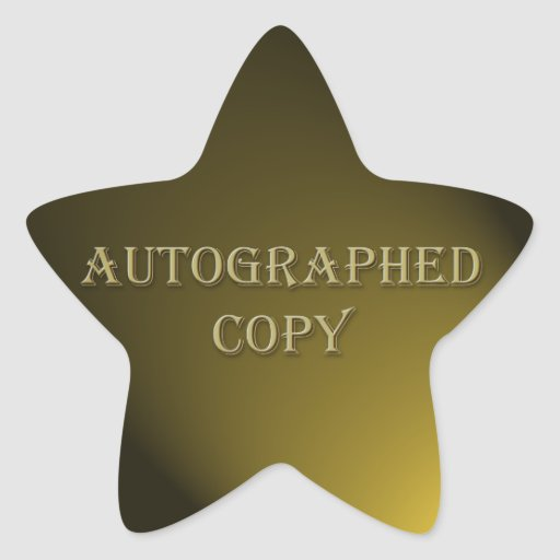 Gold Style Autographed Copy Author Sticker