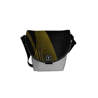 Gold Stylish - Mini Messenger Bag Outside Print
