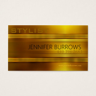 Gold Stylist Business Card