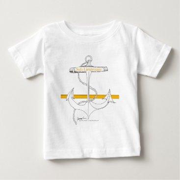Beach Themed gold sub lieutenant, tony fernandes baby T-Shirt