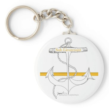Beach Themed gold sub lieutenant, tony fernandes keychain