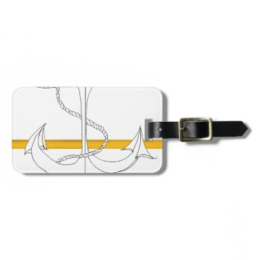 Beach Themed gold sub lieutenant, tony fernandes luggage tag