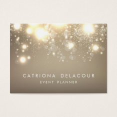 Gold Subtle Glitter Bokeh Business Card | Chubby at Zazzle