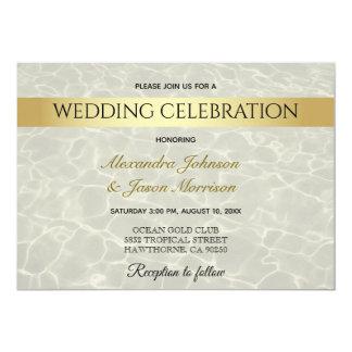 Gold Summer , Underwater Ocean Wedding Invitation