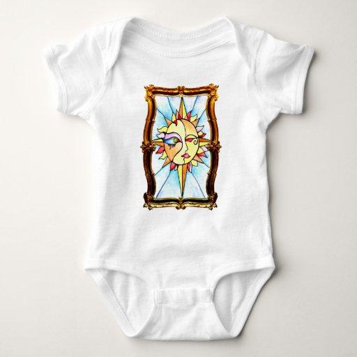 Gold Sun Baby Bodysuit