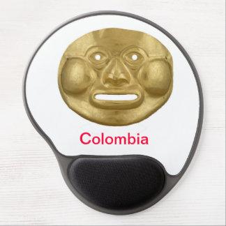 Gold Sun God pre-Colombian mousepad Alfombrilla Con Gel