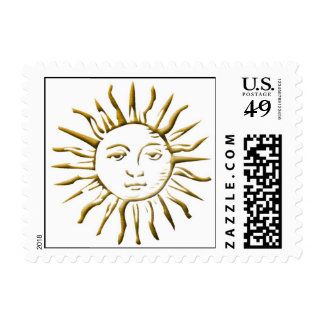 Gold Sun Postage Stamps