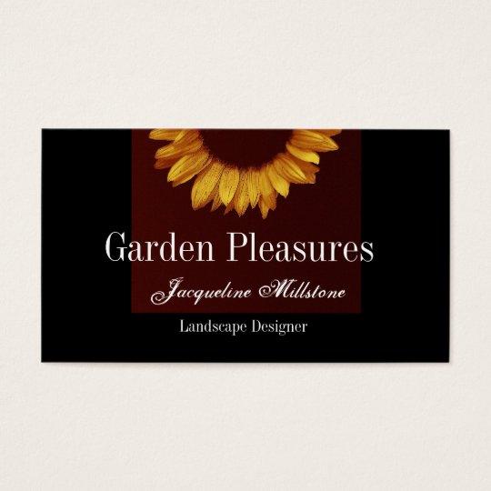 Gold Sunflower Business Card