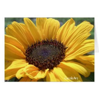 Gold Sunflower Card