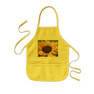 "Gold Sunflower ""Flower Girl"" Kids' Apron"