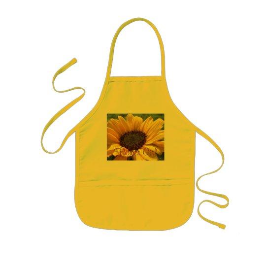 """Gold Sunflower """"Flower Girl"""" Kids' Apron"""
