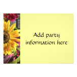 Gold Sunflower Invitation