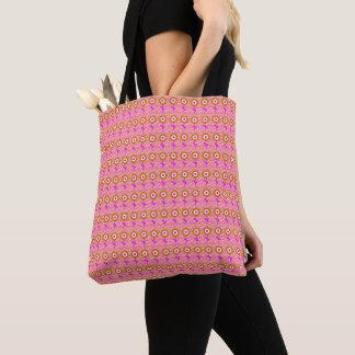 Gold-Sunflower Pink-Floral-Mod-Totes-Shoulder-Bag Tote Bag