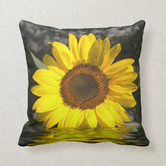 Gold Sunflower Reflection Art American MoJo Pillow