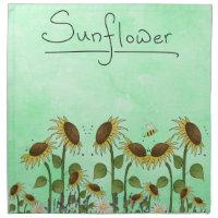 Gold Sunflower Yellow Country Prims Summer Autumn Napkin