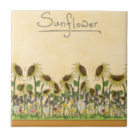 Gold Sunflower Yellow Country Prims Summer Autumn Tile
