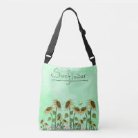 Gold Sunflower Yellow Country Prims Summer Autumn Tote Bag