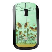 Gold Sunflower Yellow Country Prims Summer Autumn Wireless Mouse