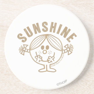 Gold Sunshine Drink Coasters