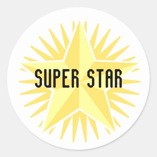 Gold Super Star Sticker