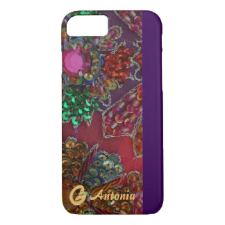 Gold Swan and Gem Encrusted Phone Case