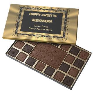 Gold Sweet sixteen music sheet Assorted Chocolates
