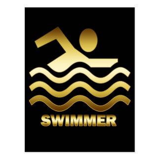 GOLD SWIMMER POSTCARDS