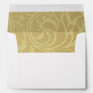 Gold Swirl Christmas Greeting Card Envelope
