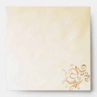 Gold Swirl Envelope-Square Envelope