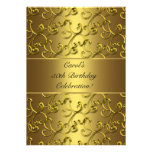 Gold Swirl Gold Anniversary Birthday Party Announcements
