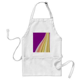 Gold swirl on purple background adult apron