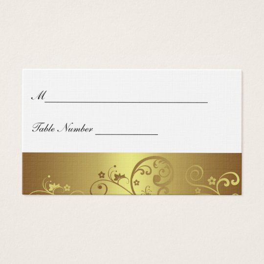 Gold Swirl Place Card