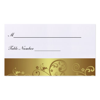 Gold Swirl Place Card Business Card Templates