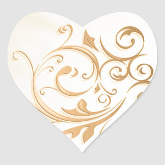 Gold Swirl Sticker/Seal Heart Sticker
