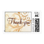 Gold Swirl Thank you Stamp