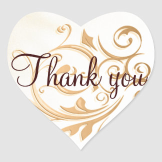 Gold Swirl Thank You Sticker/Seal