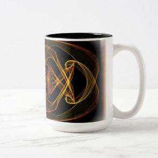 Gold Swirl Two-Tone Coffee Mug