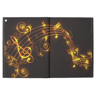 """Gold Swirling Musical Notes iPad Pro 12.9"""" Case"""