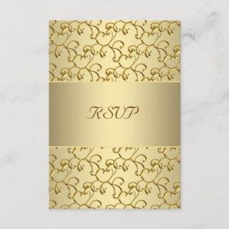 Gold Swirls Gold 50th Wedding Anniversary RSVP