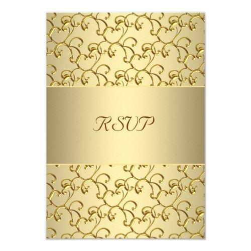 Top 50 popular 50th wedding anniversary invitation 2015 unique gold swirls gold 50th wedding anniversary rsvp 35x5 paper invitation card stopboris Choice Image