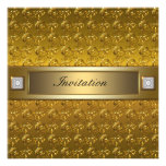 Gold Swirls Gold All Occasion Party Template Invites