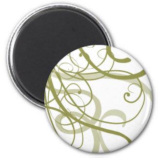 Gold Swirls Pattern 2 Inch Round Magnet