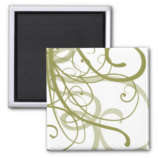 Gold Swirls Pattern 2 Inch Square Magnet