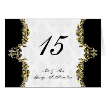 gold table seating card
