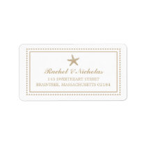 Gold Tan Graceful Starfish | Mailing Address Label