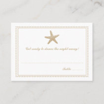 Gold Tan Graceful Starfish Seating Escort Card