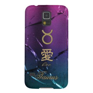 Gold Taurus Astrology Zodiac Chinese Love Symbols Galaxy S5 Case