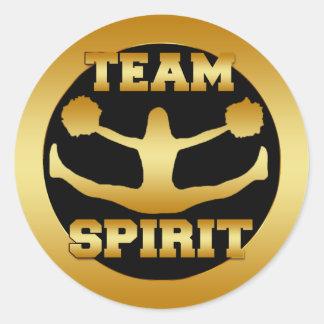 GOLD TEAM SPIRIT CLASSIC ROUND STICKER