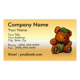 gold teddy bear business card