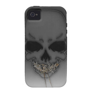 Gold Teeth Skully Vibe iPhone 4 Case